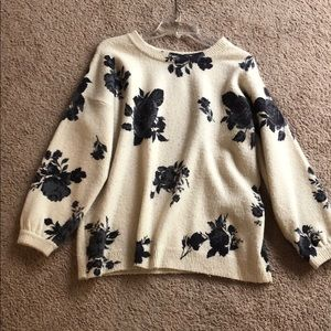 Floral sweater size small